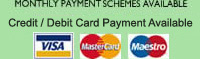 Monthly payment schemes available